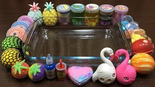 MIXING RANDOM THINGS INTO STORE BOUGHT SLIME ! RELAXING SATISFYING SLIME