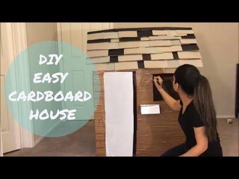 DIY Cardboard house timelapse, How to build a cardboard house