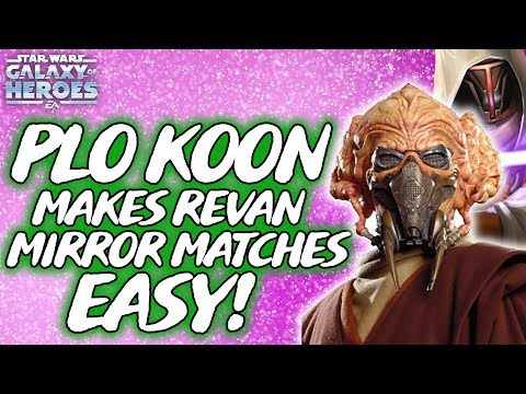 PLO KOON Makes Jedi Revan Mirror Matches Easy! SWGOH - PakVim net HD