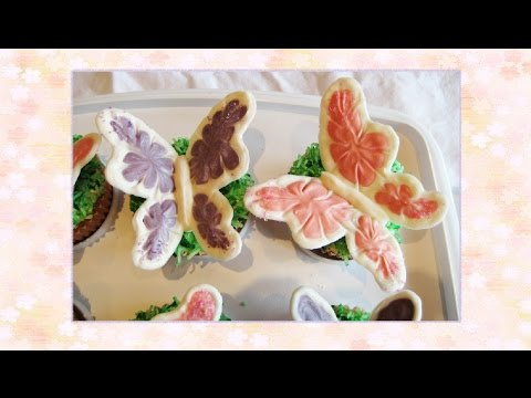 Easy Recipe : How to Make Chocolate Butterfly Cupcake Decoration - DIY Projects
