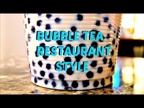 DIY Bubble Tea Recipe Restaurant Style - Boba Milk Tea Recipe