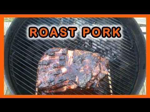 Roast Pork on a Weber Kettle Grill