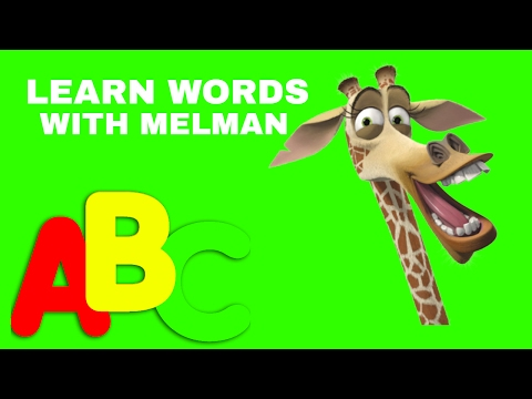 LEARN WORDS WITH MELMAN FROM MADAGASCAR - ABC FOR PRESCHOOL, TODDLERS, KIDS AND CHILDREN