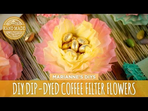 Dip-Dyed Coffee Filter Flowers - HGTV Handmade