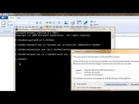 How to install .NET Framework 1.1 on Windows 7 64-bit
