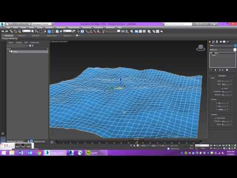 3ds Max: Creating Waves/Moving Water Using Noise Modifier