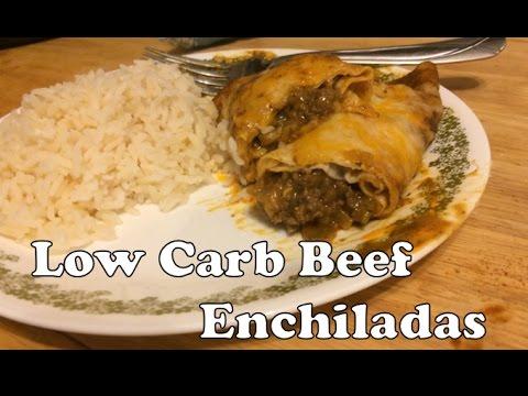 AMAZING Low Carb Beef Enchiladas