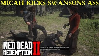Red Dead Redemption 2 | Micah kicks Reverend Swanson Arround and Spits in his Face