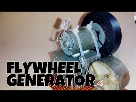 Flywheel Generator   How to make flywheel generator for free energy generator using flywheel.