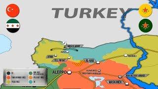 25 января 2018. Военная обстановка в Сирии. Турция вводит дополнительные силы в провинцию Алеппо.