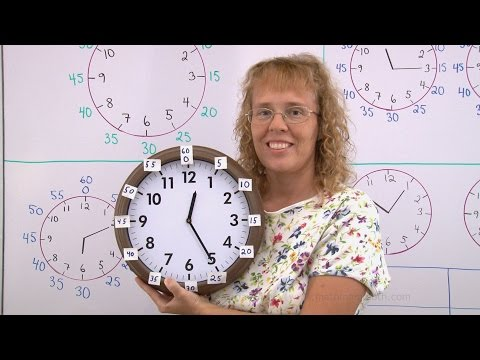 Telling time to the nearest 5 minutes - with numbers for the minute hand also