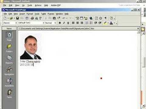 How to create an email signature in Outlook with a photo