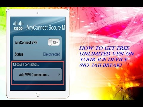 GET FREE UNLIMITED VPN SERVICE ON ANY IOS DEVICE!!! HIDE YOUR IP!!! (NO JAILBREAK) (NO SURVEYS)