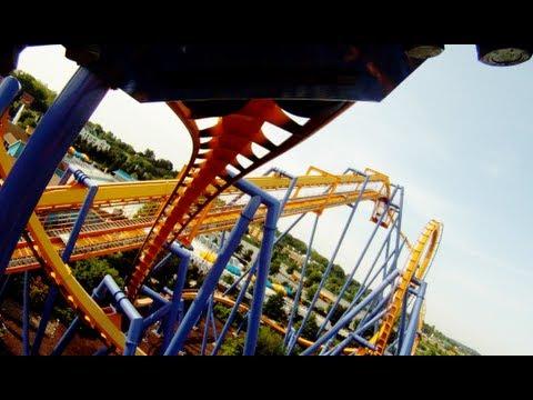Talon POV Front Seat View on Dorney Park B&M Inverted Roller Coaster