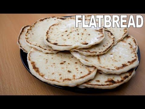 Flatbread on Pan | Pita Bread Recipe | No Oven | No Grill | Homemade | Easy Soft Flatbread Recipe