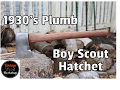 Hand Tool Only Restoration of Plumb Boy Scout Hatchet with Walnut Handle