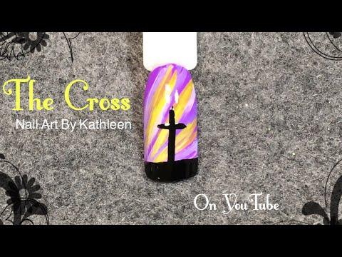Easter Nail Art - The Cross Silhouette