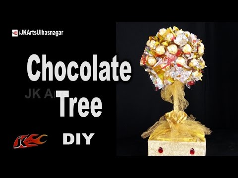 How to Make a Ferrero Rocher Chocolate Tree | Mother's Day Gift Idea | JK Arts 1182