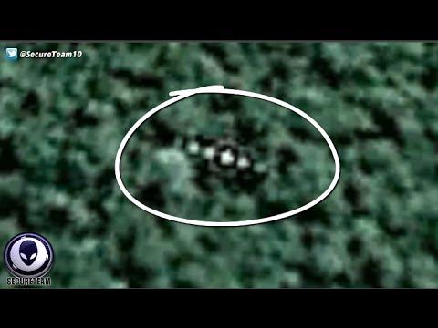 STRANGE UFO Sitting Above Amazon Rainforest On Google Earth! 4/20/16
