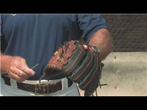 Baseball Gloves & Skills : How to Lace a Baseball Glove