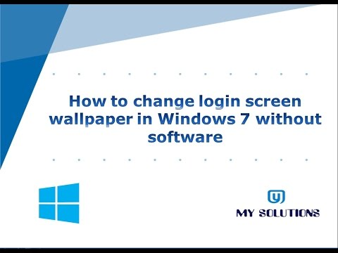 How to change login screen wallpaper in Windows 7 without software