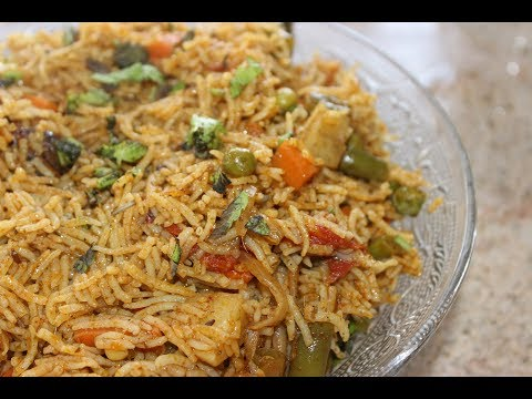 HOW TO MAKE VEGETABLE BIRIYANI WITHOUT USING PRESSURE COOKER  ( ENGLISH )