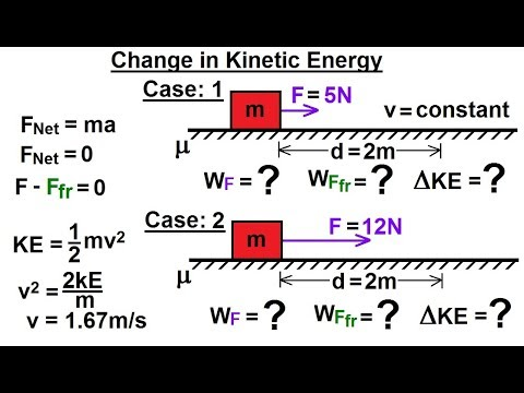Physics - Mechanics:Work, Energy, and Power Examples (4 of 27) Change in Kinetic Energy