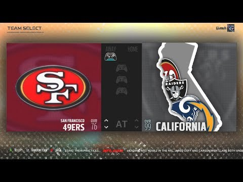 What If Every NFL Team From CALIFORNIA ALL Combined Into One SUPER Team? Madden NFL
