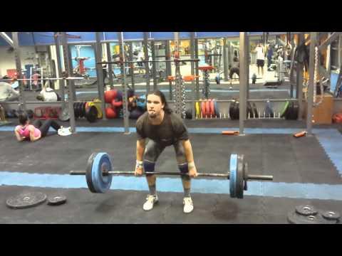 Pull + lowhang powerclean n jerk 100kg