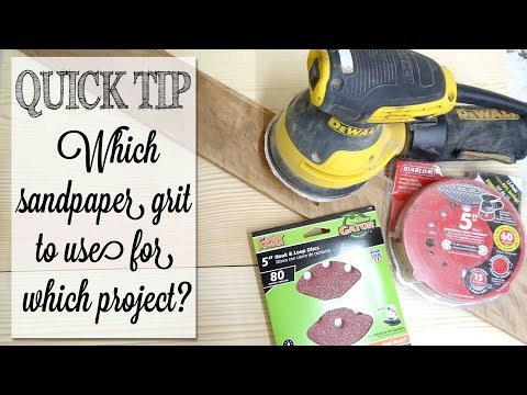 Which Sandpaper Grit to Use? | Quick Tip Tuesday