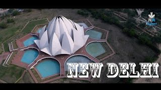 New Delhi 4K - A Birds Eye View - Moto Turbo On a Drone - iGyaan