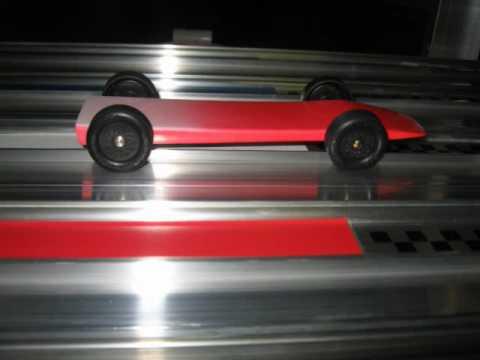 Pinewood Derby Ebay super fast car by DerbyDad4Hire.com red to white fade