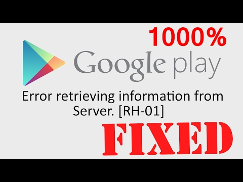 How to Fix Error retrieving information from server rh-01 play store[100% Solved]