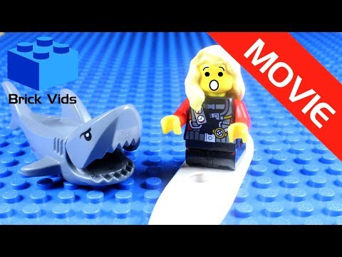 Lego Shark Attack Funny Parody Movie - Lego Jaws Funny Video