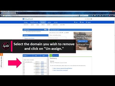 How to Remove a Domain Parked From Bluehost