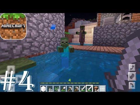 Minecraft: Pocket Edition - Gameplay Walkthrough Part 4 - Survival Visiting A Zombie Village