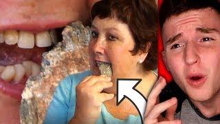Lady Literally Eats Rocks For Breakfast