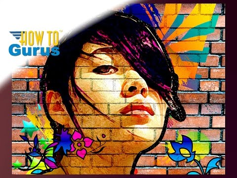 Photoshop Elements Art : How to Make a Graffiti Street Portrait on Wall 2018 15 14 13 12 11 Tutorial