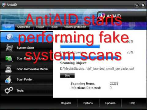Beware AntiAID Being Dropped Onto Your PC!