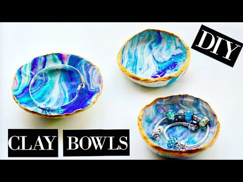DIY: MARBLE CLAY BOWLS