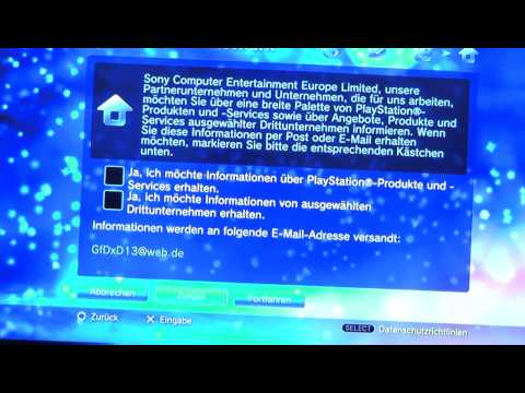 PlayStation 3 Deutschen Online Account erstellen Tutorial [GERMAN] [HD]