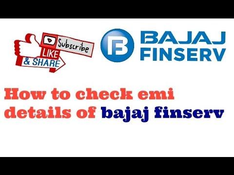 How to check emi details of bajaj finserv