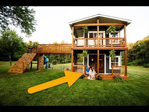 Dad Builds Amazing Two Story Playhouse For His Daughters