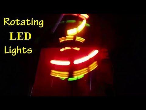 How to make a Rotating LED Lights using DC Motor - DIY