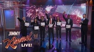 Jimmy Kimmel Welcomes Immigrants to America