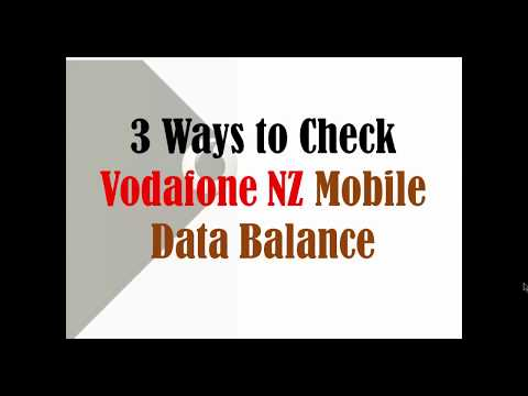How To Check Vodafone NZ Mobile Data Balance