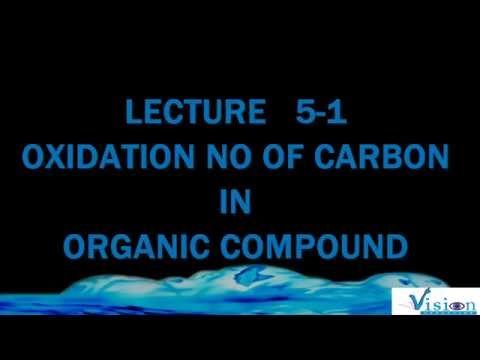 LEC 5 1 OXIDATION NO OF CARBON IN ORGANIC COMPOUND