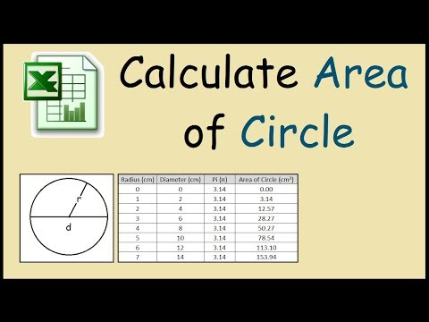 How to calculate the area of a circle using Excel