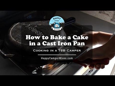 How to Bake a Cake in a Cast Iron Pan in a T@B Camper