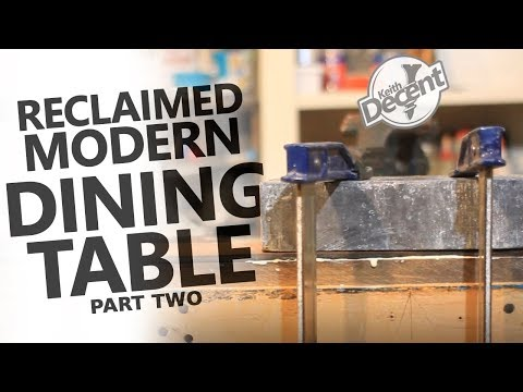 RECLAIMED MODERN DINING TABLE pt 2 - Building the Inlay